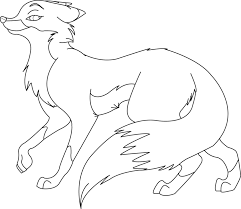 free fox lineart by ktlasair on deviantart