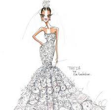 true fashionista nowkim kardashian wedding gown sketches true
