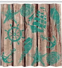 Vintage Nautical Shower Curtain Nautical Shower Curtains Shower Curtains Outlet