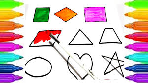 learn shapes and colors for kids children drawing shapes and