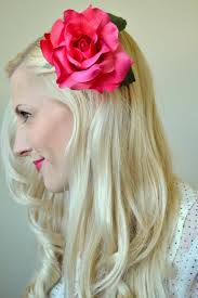 flower hair clip diy hair flower