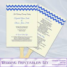 Diy Wedding Fans Templates 9 Best Images Of Royal Blue Wedding Program Templates Royal Blue