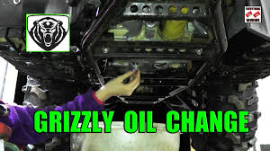grizzly 700 oil change youtube