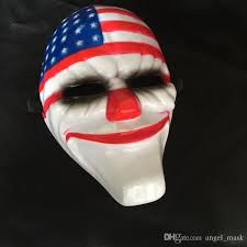 Italian Halloween Costume Venetian Masquerade Creepy Clown Usa Flag Mask Halloween