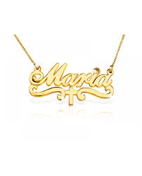 baptism necklace gold cross necklace cross name plate baptism gift the name
