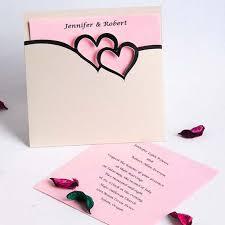 pink wedding invitations pink and black hearts pocket wedding invitation