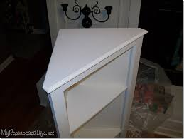 how to make a corner cabinet diy corner cabinet my repurposed life