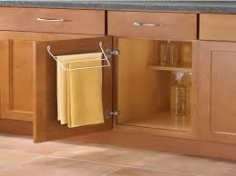 kitchen cabinet towel rail towel organizers pull out and door mounted racks from rev kitchen