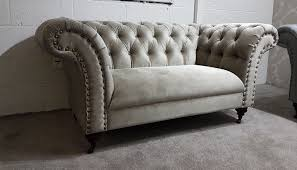 fabric chesterfield sofa urgent fabric chesterfield sofa 2 x 2 seater set in putty grey