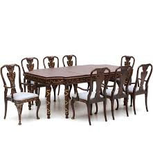 baker neoclassical style dining table and asian inspired chairs ebth