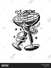 champagne glasses clipart champagne glasses retro clip art vector u0026 photo bigstock