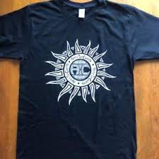 in chains sun logo v2 shirt black rock ebay