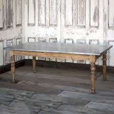 zinc table tops for sale park hill zinc top farm table hl1001