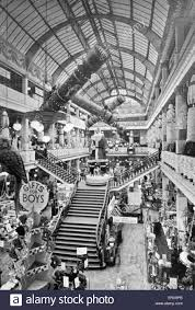 christmas decorations at blacklers department store on the corner