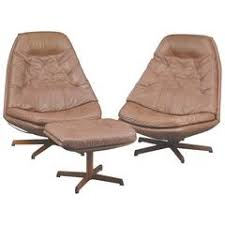 Antique Leather Swivel Chair Danish Mid Century Leather Swivel Lounge Chair With Ottoman By