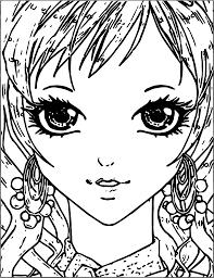 manga small face coloring page wecoloringpage