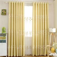 exquisite embroidered floral pattern yellow bedroom curtains