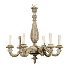 Antique Chandeliers French Vintage Six Light Carved Wood Chandelier French Vintage