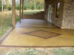 How To Clean A Concrete Patio by Stained Concrete Patio Modern Photos A In Inspiration