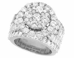10k wedding ring 10k white gold real cluster halo engagement wedding ring 4