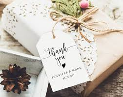 thank you wedding gifts wedding favor tags etsy