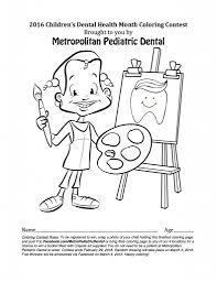 metropediatric dental children u0027s dental health month coloring