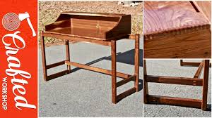 Contemporary Secretary Desk by Building A Modern Secretary Desk Organ Cabinet Youtube