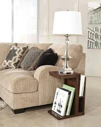 custom magazine rack in creamy living room with table lamp modern