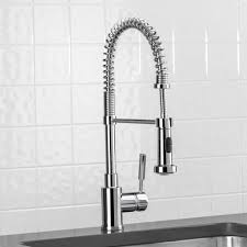 professional kitchen faucets blanco 441409 meridian satin nickel pro pre rinse units kitchen