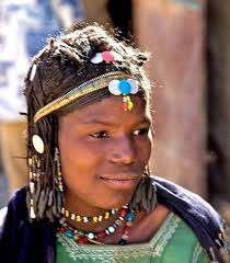 bella niger hair africa an old bella woman with plaited hair in her village near