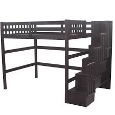 Bunk Beds Espresso Staircase Loft Bed With Stairs Stairway Loft Beds