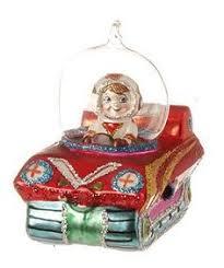 tree glass ornament astronaut russian new year