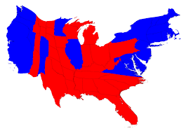 map of us states based on population here s the 2016 election results map adjusted for population