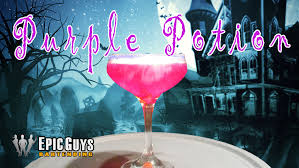 how to make a purple potion cocktail halloween cocktail recipe
