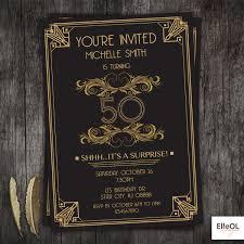 gatsby invitations great gatsby deco birthday invitation 21st 30th 40th 50th