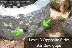 Firepit Blocks Easy Diy Inexpensive Firepit For Backyard Thrifty
