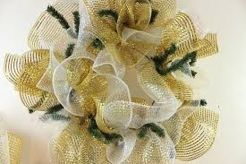 White Deco Mesh Gold And White Deco Mesh Wreath Tutorial Hometalk