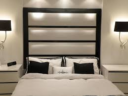 wall headboards for beds bedroom modern bedroom with blavk white wall mounted headboard bed