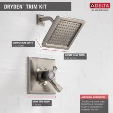 Dryden Delta Faucet Delta Faucet T17251 Ss Dryden Brilliance Stainless One Handle
