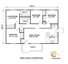 small one level house plans floor plan farmhouse with luxury level finished home ranch storey