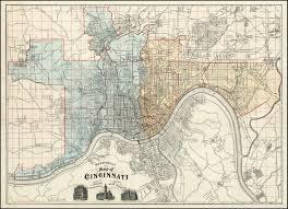 Map Of Cincinnati Mendenhall U0027s New Map Of Cincinnati Barry Lawrence Ruderman