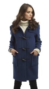 womens classic duffle coats royal blue