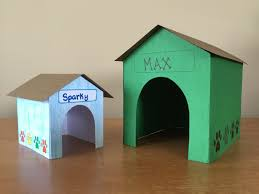 3 d paper doghouse kids craft youtube