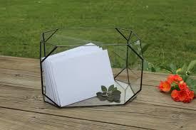terrarium table large wedding card box glass card holder wedding centerpiece