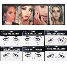 tattoo makeup freckles 1pc personality fashion disposable gold face tattoo stickers