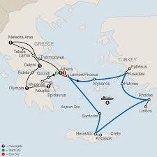 Aegean Sea Map Classical Greece Cruise U0026 Tour Globus