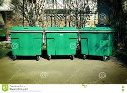 Backyard Garbage Cans by Three Trash Cans Stock Photo Image 71474107