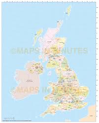 Nd Road Map Digital Uk Simple County Administrative Map 5 000 000 Scale