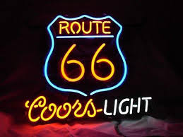 cheap light up beer signs new route 66 coors light real glass neon beer signs pub bars neon