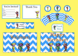 caillou birthday invitations floogals party package includes happy birthday banner happy